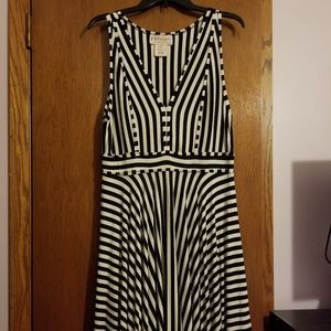 Black and white striped Philosophy Dress